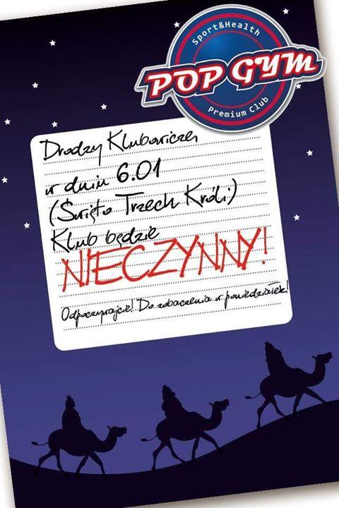 Drodzy Klubowicze, w dniu dzisiejszym nasz Klub jest nieczynny! Do zobaczenia jutro od 6:00!!…