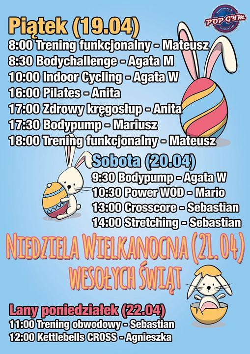 Jutro pracujemy w normalnych godzinach (6:00 – 23:00) ale małe Wielkanocne zmiany w grafiku…