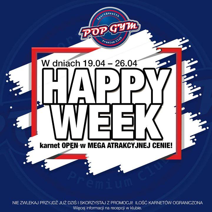 ‼️HAPPY WEEK w POP GYM Sport & Health Club‼️ W dniach 19-26 kwietnia KARNET…
